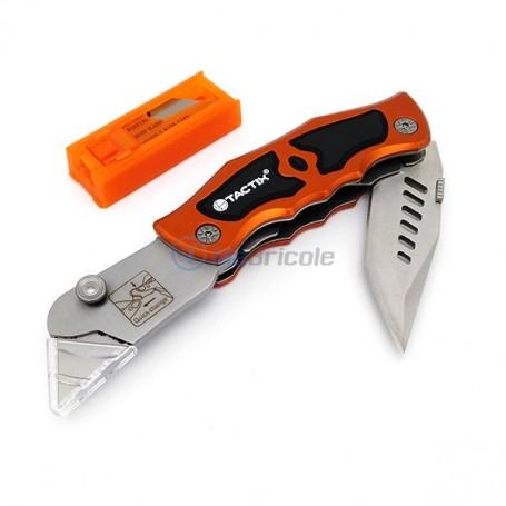 Cutteur Couteau Pliable 61mm TACTIX