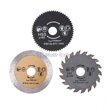 Lame De Scie Pour Outil Rotatif 54.8*11.1mm 3 Pièces