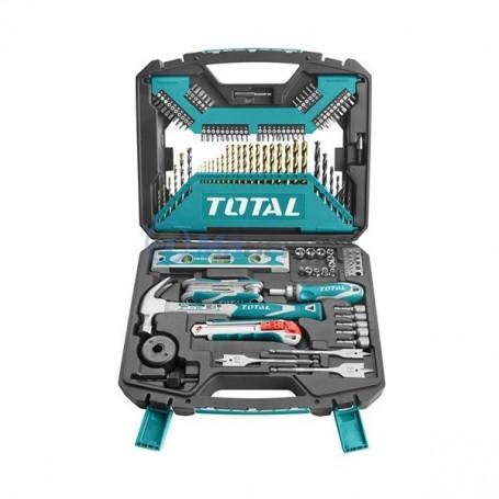 Kit caisse outils à main et mèches 120 pièces TOTAL
