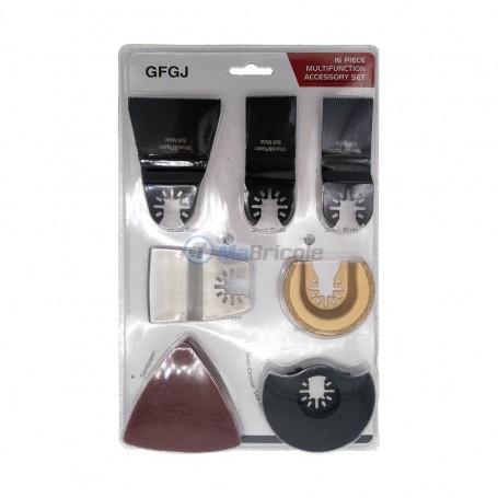 Kit accessoires métal, bois et pierre 16 pièces pour outil multifonction