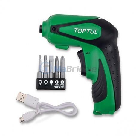 Tournevis Électrique sans fil USB 3.6 V 3 Nm TOPTUL