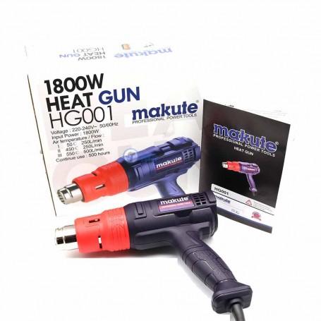 Décapeur thermique, Pistolet à air chaud 1800W 50-550C° MAKUTE