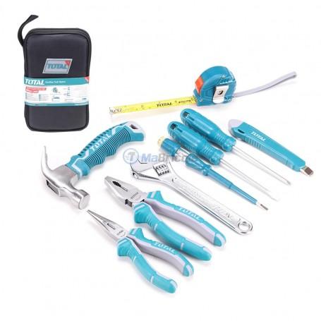 Sac outils à mains 9 pièces TOTAL