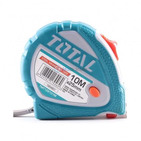Mètre à ruban 10m 25mm TOTAL