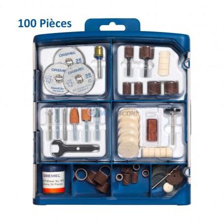 Coffret Accessoires Pour Mini Meuleuse 100 Pièces DREMEL