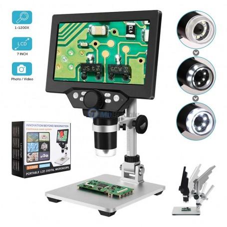 """Microscope numérique portable LCD 7"""" 1-1200X"""