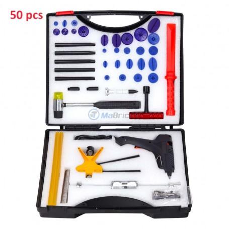 Kit de tolier, réparation débosselage à froid 50 pcs avec coffret
