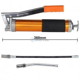 YaeTek Pompe /à graisse manuelle 4500PSI Pistolet /à Graisse en Aluminium anodis/é avec Tuyau Flexible de 30,5 cm et rallonge Rigide de 15,2 cm