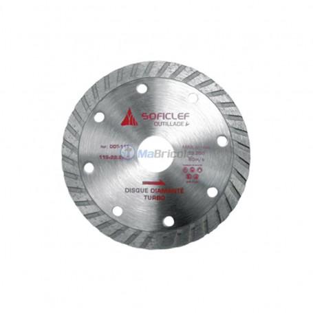 Disque diamanté turbo 115x3x22.2mm SOFICLEF