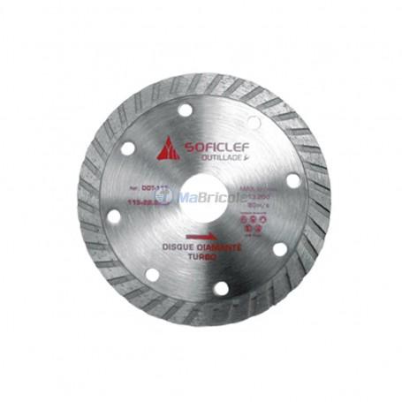 Disque diamanté turbo 230x3x22.2mm SOFICLEF