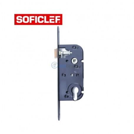 Serrure à encastrer sans cylindre 22.5x6x1cm SOFICLEF